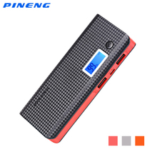 PINENG PN-968 10000mAh Power Bank Dual USB Output External Battery Charger Pack Support LCD Display Flashlight(China)