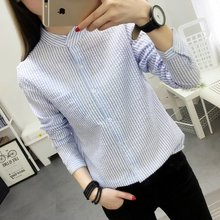 Buy 2017 Women Blouses Shirt Female Cotton New Spring Autumn Stripe Long Sleeve Shirts Women Tops Ladies Clothing S-XL for $8.88 in AliExpress store