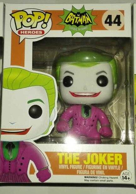 Hot Sale DC Comic Classic Batman 1966 The Joker Funko POP Heroes 44 # Vinyl Figure  9.5CM <br><br>Aliexpress