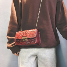 Korean Version Stereo Mini Stamp Envelope Chain Bag Retro Fashion Bag For Lady Dark Red Crossbody Bag Single Female Personality