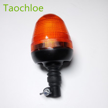 1x 12V 24v LED Light Flexible Pipe Mount Amber Beacon Emergency Hazard Warning Safe Yellow Flash Strobe Lights Plus Coaster Car(China)