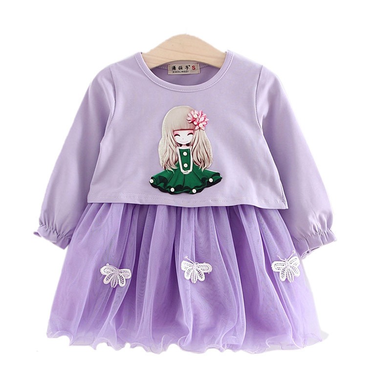 2017 New Spring 2Pcs Baby Girls Clothing Set Cute Doll Tops+Butterfly Tutu Dress Spring Girls Sets Toddler Kids Clothes<br><br>Aliexpress