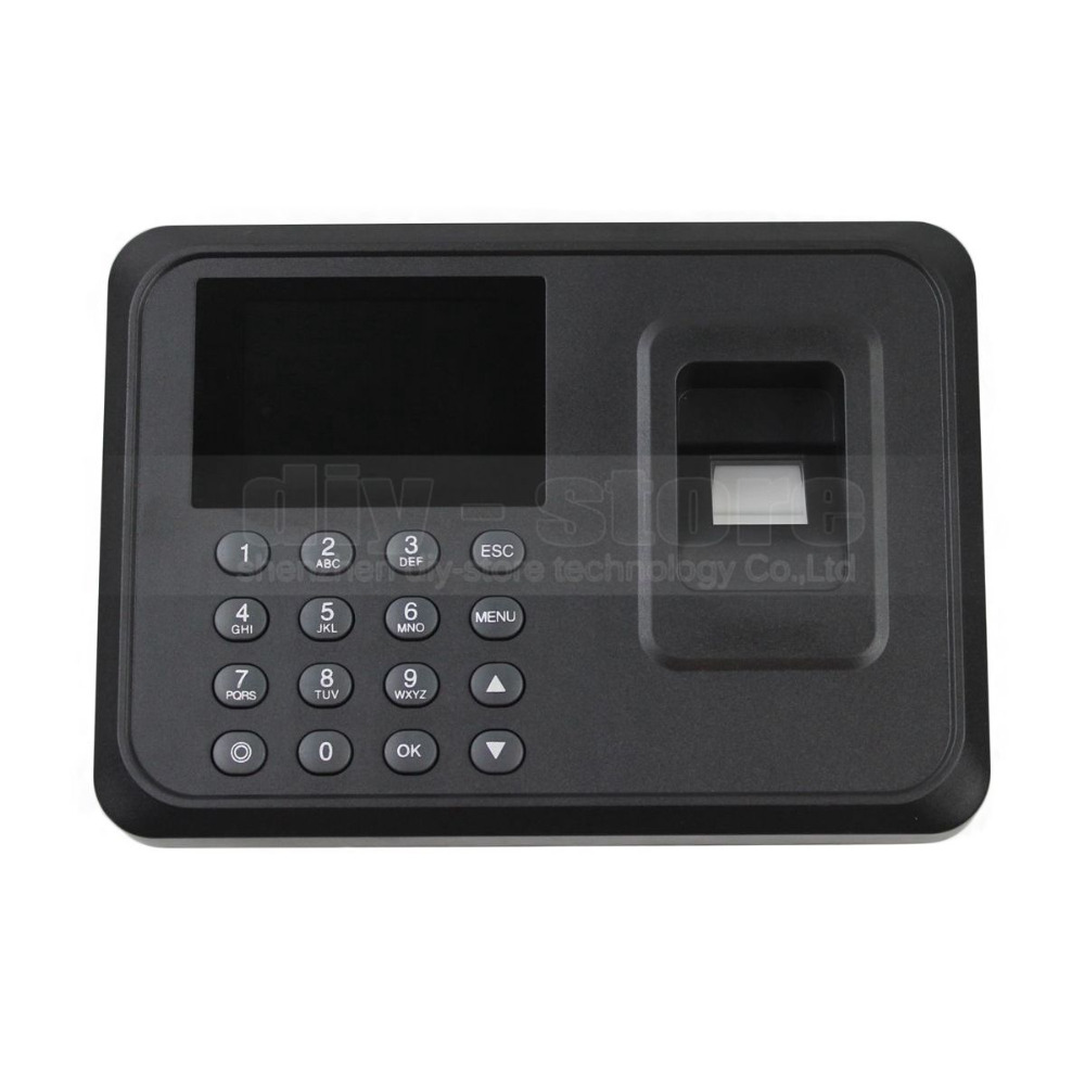 DIYKIT USB Biometric Fingerprint Time Attendance Clock Recorder Employee Digital Electronic English Voice Reader Machine<br>