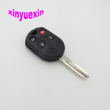 Xinyuexin Blade Transponder Chip Key Shell FOB Case For Ford Escape C-Max Focus 3+1 4 Buttons Replacement Key Shell(China)