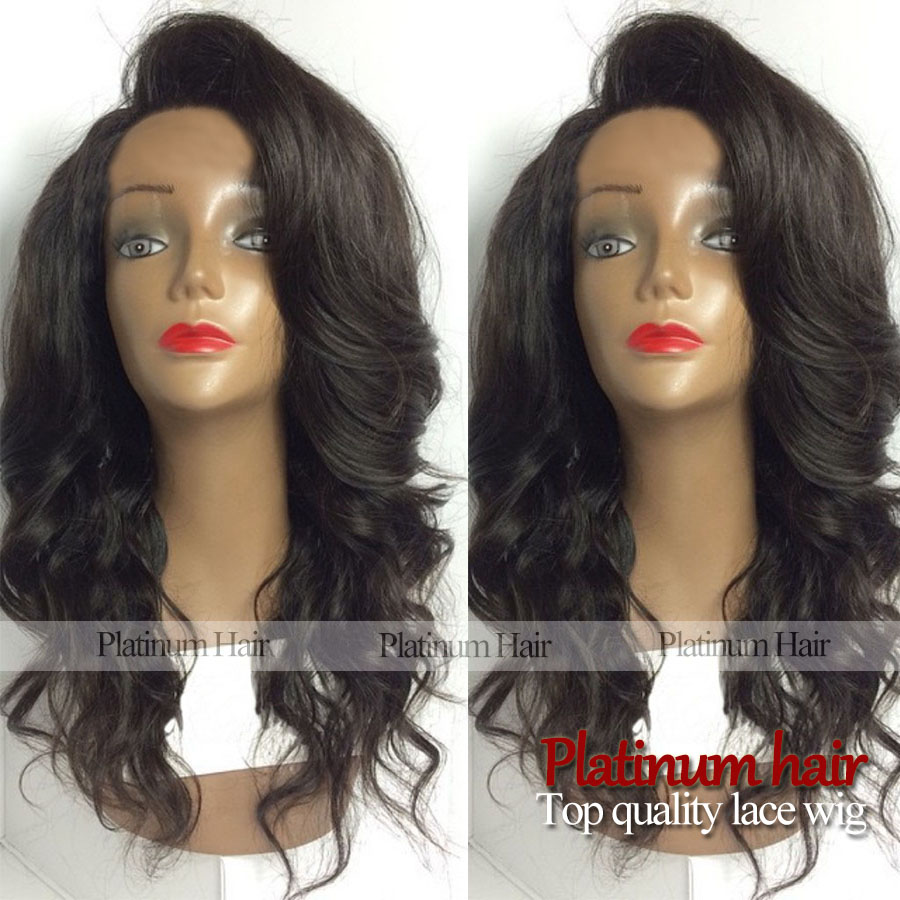 new fashion wig synthetic lace front hair natural body wave black color synthetic wigs heat resistant hair wave for women<br><br>Aliexpress