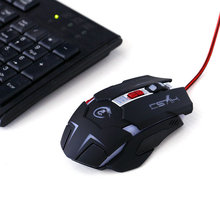 High Quality H600 Professional 3200 DPI USB Wired LED Light Gaming Mouse 7 Keys Peripherals for Laptops Desktops Gamer Universal