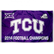 5 Color Texas Christian Big XII Champions American Outdoor Indoor Football College Flag 3X5 Custom USA Any Hockey Flag(China)