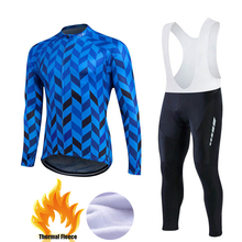 Buy Winter Thermal Fleece Pro Team Cycling Jersey Set Long Sleeve Bicycle Bike Clothing Cycle Bib Pantalones Ropa Ciclismo Invierno for $41.50 in AliExpress store