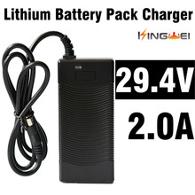 KingWei 1Pcs High Quality Electric Bicycle Battery Li-ion Battery Pack Charger AC 29.4V 2A With 5.5mm * 2.1mm Plug Cable(China)