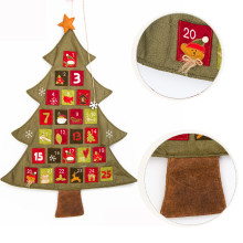 Merry Christmas Cloth Countdown Calendar Tree Christmas Sackcloth Calendar Art Crafts Wholesale Christmas Ornaments Kerstmis@GH