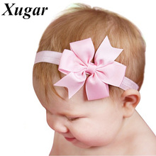 5 Pcs/Lot Newborn Kids Headband Boutique Pinwheel Handmade Elastic Head Bands Girl Cute Hair Accessories