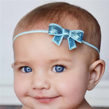 Black Friday SaleBaby Headbands baby flower head band with sparkly sequin bow Hair Accessories for Christmas Gift HOT