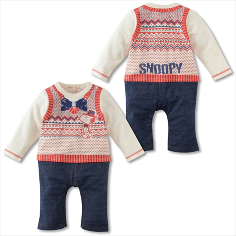 Spring And Autumn Lovely Cartoon Style Baby Romper Newborn Baby Clothes 100% Cotton Bebe Children Unisex One Piece Pompers HB066<br><br>Aliexpress