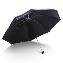 170340/Ultra-light carbon fiber dual umbrella /High-quality rain umbrella/Three folding sun umbrella /Resistant UVA