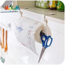 MAIKAMI ABS Kitchen Tissue Holder Hanging Bathroom Toilet Roll Paper Holder Towel Rack Kitchen Cabinet Door Hook Holder