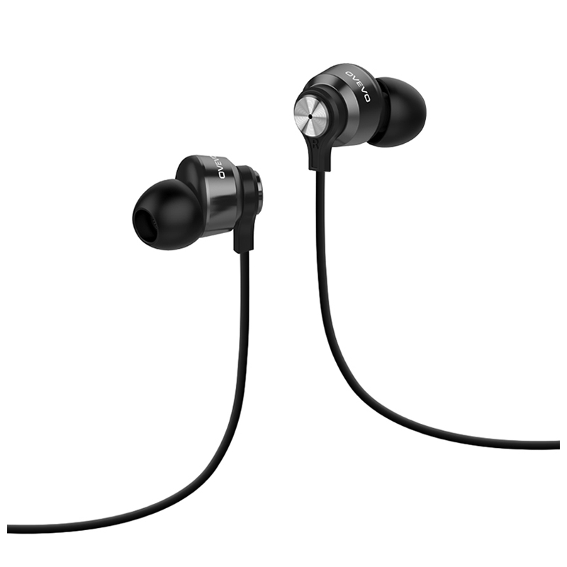 HOT-high quality Stereo In-Ear Earphone Line Control Mic Noise Cancelling Bass Headset for MP3,Smartphone black