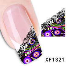 2017 Rushed Promotion Manicure Nails 2 Sheets Watermark Nail Stickers Flowers Row Of Pens Manufacturers Xf1321