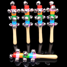 11.11Baby Wooden Musical 1Pcs 18cm Rainbow Bell Classic Toy Educational Toys Baby Rattles Birthday Gift(China)