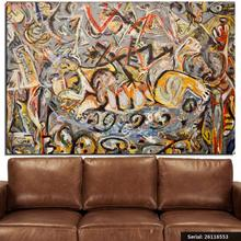 Jackson Pollock Still life Abstract oil Painting Drawing art Spray Unframed Canvas technical scarf miniature realistic26116553