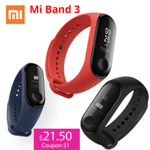 Xiaomi Smart-Wristband Fitness-Tracker OLED Touch-Screen 3 with Waterproof Heart-Rate
