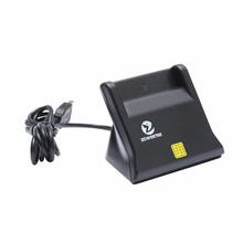 Zoweetek 10PCS/Lot 12026-3 Smart Card Reader USB 2.0 Smart Card Readers Support Network ATM Banking Transfers Tax Credit Cards(China)