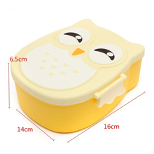 Portable Kids Cartoon Owl Lunch Box Food Fruit Storage Container Food-safe Picnic Container