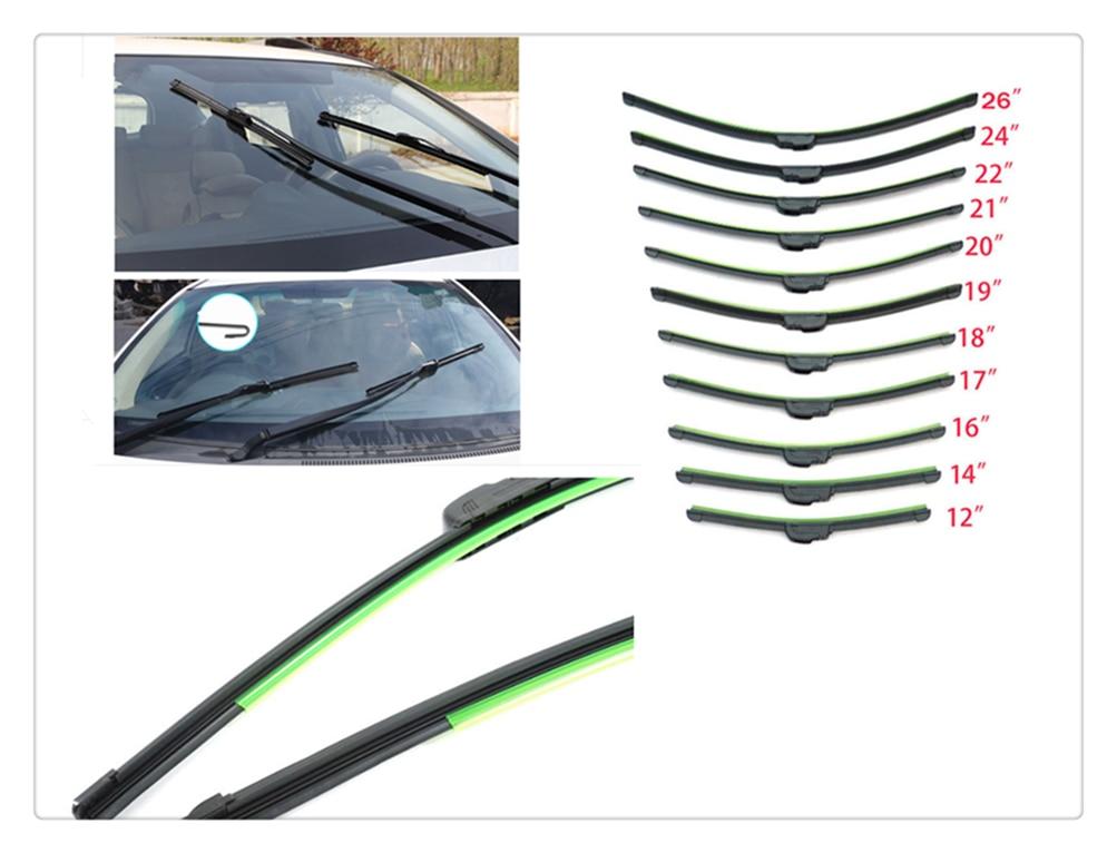 Auto parts windshield wiper U-shaped without bracket rubber for Nissan NV200 Nuvu NV2500 Forum Denki 350Z Zaroot