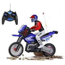 New Mode2 Jouet Electronique Garcon New High Speed Rc Remote Control Motorcycle Off Road 2 Wheels Stunt Racing Model(China)