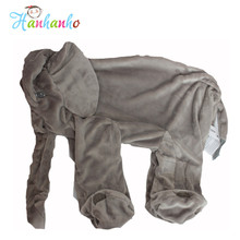 Wholesale Giant Elephant Plush Toy Skin Infant Stuffed Animal Doll Kids Sleeping Pillow Cover Soft Baby Toy