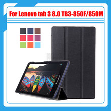3in1 cover for Lenovo tab 3 8.0 TB3-850F/850M 850X 2016 new tablet case for lenovo tab 3 8'' case+screen protector film+stylus