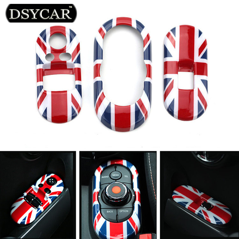 DSYCAR 3pcs/set New Lifts Switching Decorative Boxes Cover Car-styling For 2014 BMW Mini Cooper F56 (FUN/COOPER/S/EXCITENMENT)<br>