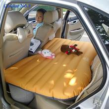 Car Back Seat Cover Car Air Mattress Travel Bed Inflatable Mattress Air Bed Good Quality Inflatable Car Bed For Camping(China)