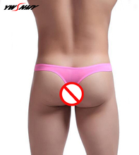 Buy Sexy Mens G Strings Underwear Cuecas Bikini Men Jockstraps Gay Penis Pouch Thong Low Waist G-String Cool Breathable Underpants