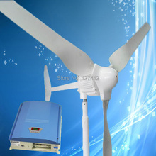 1000W 24V Residential Wind Turbine Generator with 3PCS Blades, Combine with 1000W 24V Advanced Wind Solar Hybrid Controller
