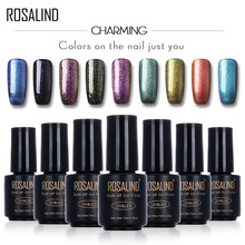 ROSALIND 7ML Chameleon Salon B01-12 UV&LED Soak-off Gel Nail Polish Nail Art Nail Gel Polish Shining Platinum Shimmer Permanent