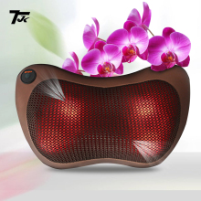 TJK TT602B Massager Pillow Electric Infrared Heating Kneading Neck Shoulder Back Body Massage Pillow Car Home Dual-use Massager