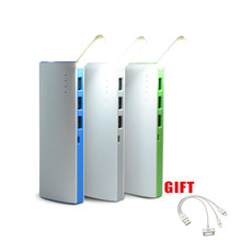 2017 new 3 USB Power Bank 10000mAh Portable Powerbank 18650+LED Light External Mobile Battery Charger Backup bank Fast Shipping