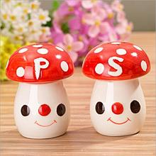 New Arrival Multicolor Mushroom Wedding Luxury Salt And Pepper Shakers Gifts Free Shipping 20pcs=10sets