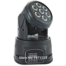 Free shipping 7x12w led mini moving head rgbw 4in1 mini moving head 7X12w rgbw Mobil head light wash quad DMX 14 channels