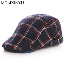 MOLIXINYU 2017 New Simple Stripe Baby Berets Hat Boy Caps For Child Girl Berets Kids Hats Design England Style Free Shipping