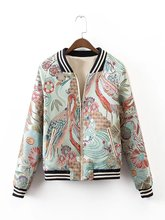 XD130-270 fashion wind Baseball Jacket embroidered crane 0409