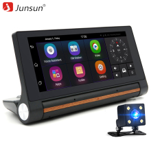 "Junsun E27 Car DVR Camera 6.86"" Android GPS 3G Dash Cam Video Recorder With Rearview Cameras Registrator FHD 1080p Black Box(China)"