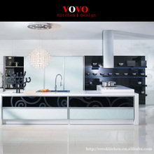 White high gloss popular kitchen cabinet flat pack