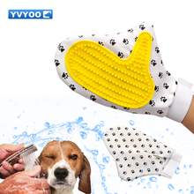 YVYOO Pet Dog cat bath massage gloves hair cleaning comb Pet Dog Supplies silicone Pet Cleaning Brush Glove A90(China)