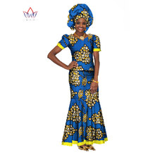 Buy BRW 2017 New Fashoin African Wax Print 2 Pieces Sets Dashiki Sets & Headtie Africa Style Clothing Plus Size 6xl Clothes WY147 for $55.00 in AliExpress store