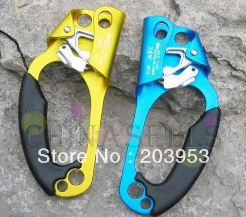 outdoor climb risers mountaineer climbing ascender tool anti-dropping device protector hand risers Jumar clamp jumat Handheld<br>