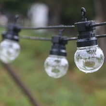 10/20 bulb led globe string light ball fairy christmas G40 G50 patio garden party wedding backyard street outdoor waterproof