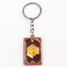 5 pc/lot Newest Hearthstone keychain Heroes Of Warcraft Keychains series Factory Direct Sale