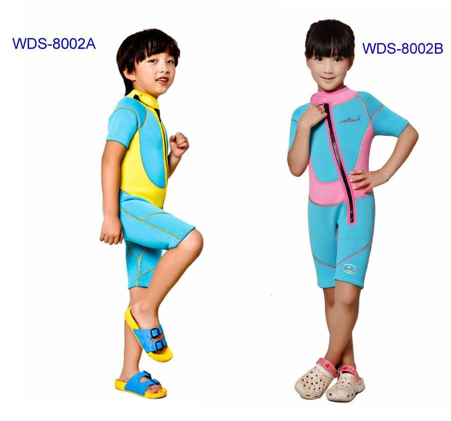 WDS-8002-11-Children-Wetsuit-2.5mm-Neoprene-Thick-Swimsuit-for-Winter-Autumn-Spring-Shorty-Swimwear