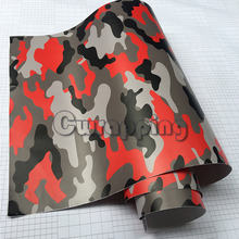 Red Black Grey Urban Camouflage Vinyl Motorcycle Car Vehicle Scooter DIY Wrapping Sticker Adhesive Camo Film Wrap(China)